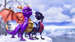 Spyro Dawn of the Dragon Winter by Anleas