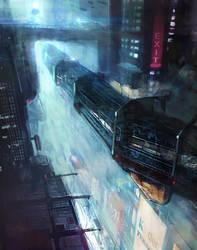 Sci Fi Environment for venus project by giovanni-panarello
