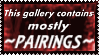 'Gallery Contains Mostly Pairings' Stamp by Fantasy-Fashionista