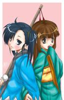 Setsuna and Konoka by ryuuen