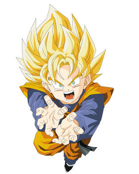 Son Goten Vector Render/Extraction PNG by TattyDesigns