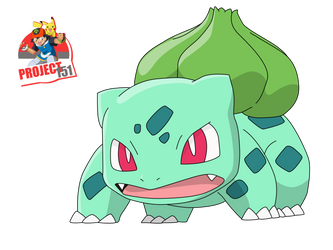 001 Bulbasaur Vector Render/Extraction by TattyDesigns