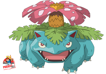 003 Venusaur Vector Render/Extraction by TattyDesigns