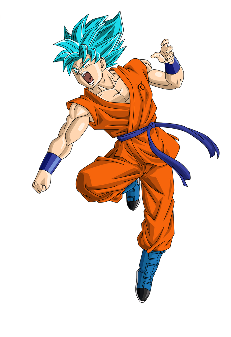 Super Sayin Blue (SSB) Goku Render/Extracton by TattyDesigns