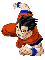 Mystic Gohan Render/Extraction 2 PNG by TattyDesigns