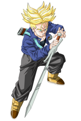 SSJ Future Trunks Vector Render/Extraction PNG by TattyDesigns