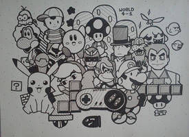 Doodle #12 Nintendo by SenpieWasTaken