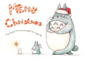 Have a Totorific Totoro Chritmas! by misiaclive