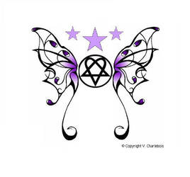 Heartagram Butterfly by Burnthewood