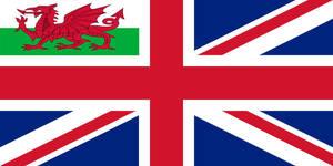 Welsh Naval Jack under the United Kingdom by 00Snake