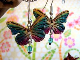 Flyaway Butterfly Earrings by Ideas-in-the-sky
