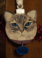 Pet portrait Bauble 4 by Ideas-in-the-sky
