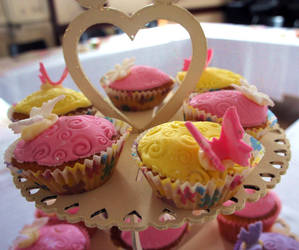 Butterfly Cupcakes by Ideas-in-the-sky