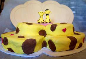 Giraffe Wedding Cake by Ideas-in-the-sky
