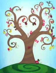 Wedding Fingerprint tree by Ideas-in-the-sky