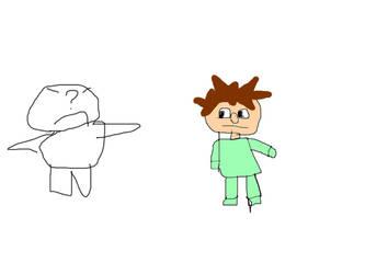 Very not creative Protagonist vs baldi basics kid by Endoskeleton64