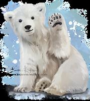 Polar bear by Kajenna