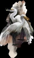 Egret by Kajenna