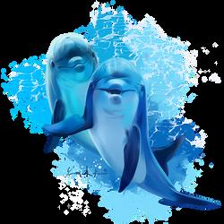 Dolphins by Kajenna