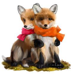 Foxes by Kajenna