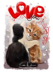 Happy Cats by Kajenna