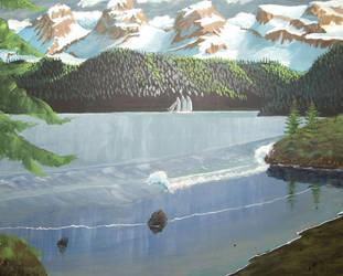 Alaskan fjord by vic-gomery