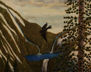 A Raven in the Mountains by vic-gomery