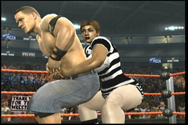 tiana has cena in a hold by wrestlinggirls
