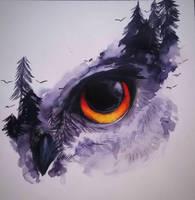 Inktober - Day 14 Owl Protector by pies-porucznik