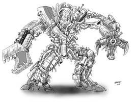 Kaiju Commissions - Brain Case 3 by Bracey100
