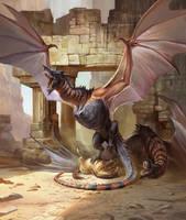 Gila Monsters by KatePfeilschiefter