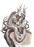 Tatzelwurm by KatePfeilschiefter