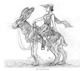 Rabbit Rider by KatePfeilschiefter
