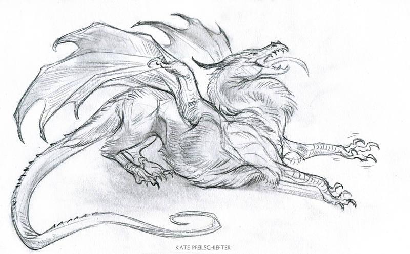 Stretchy Dragon by KatePfeilschiefter
