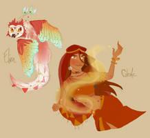 Elira and Celeste by skipwr3ck