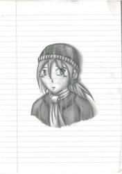 anime girl by udiszabi
