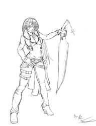female Squall W.I.P by Superkenomatic