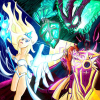 Janna, Leona, and Thresh for SilverTheSniper by gildedguy