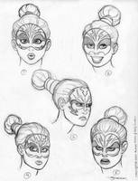 CHARGE Headshots sketch by strickart