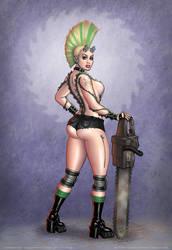 Chainsaw Girl bg by strickart