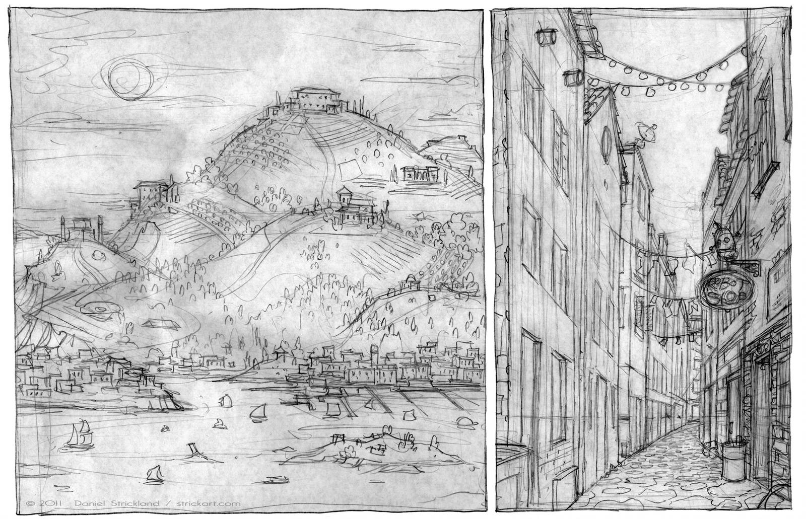RS Environment Sketches by strickart
