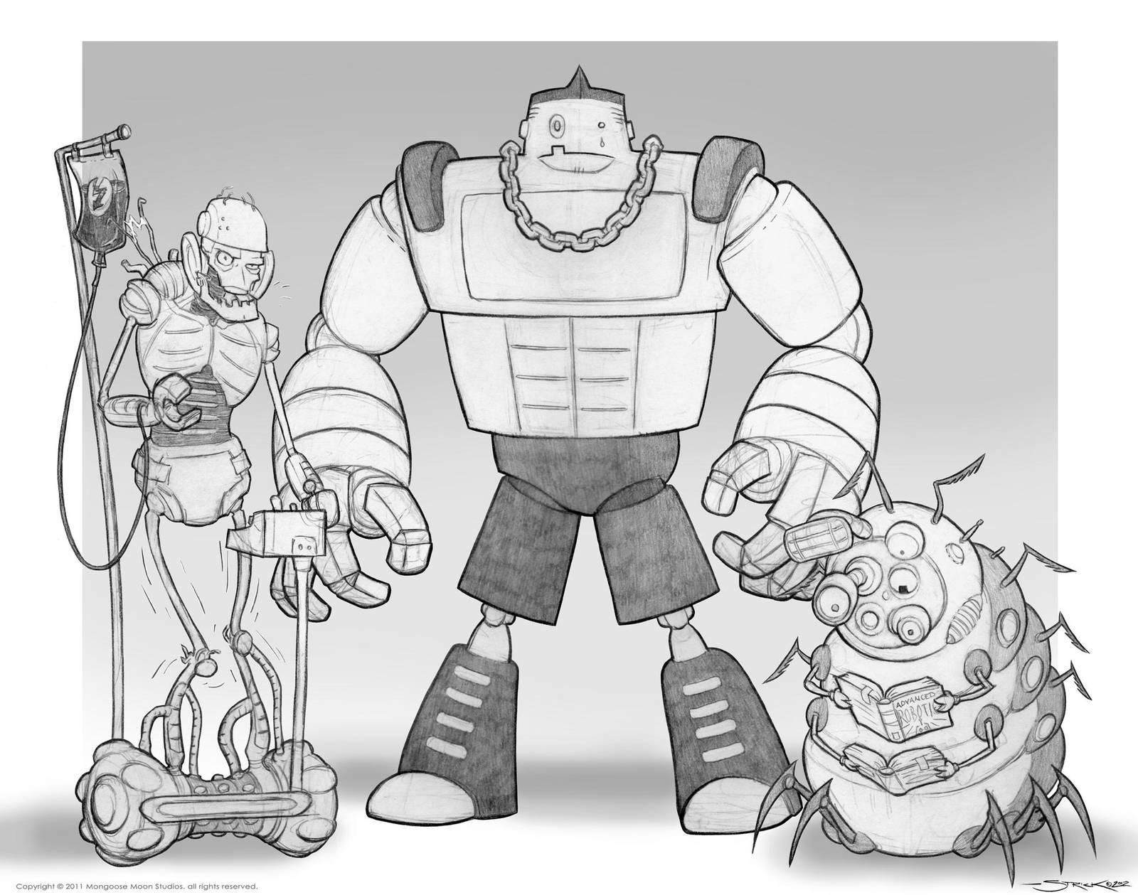 robo trio by strickart