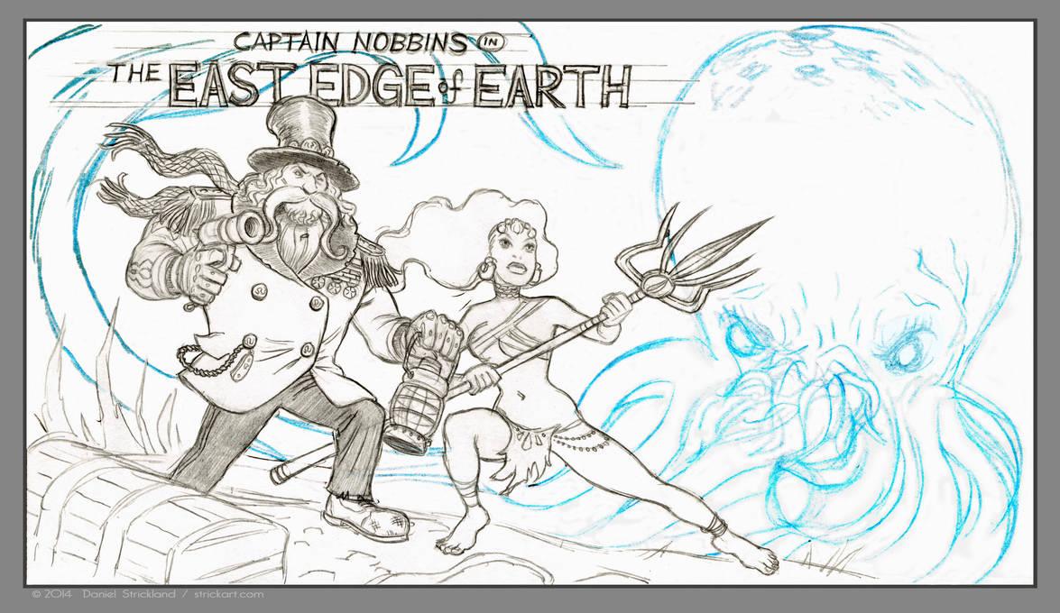 Captain Nobbins rough pencils by strickart