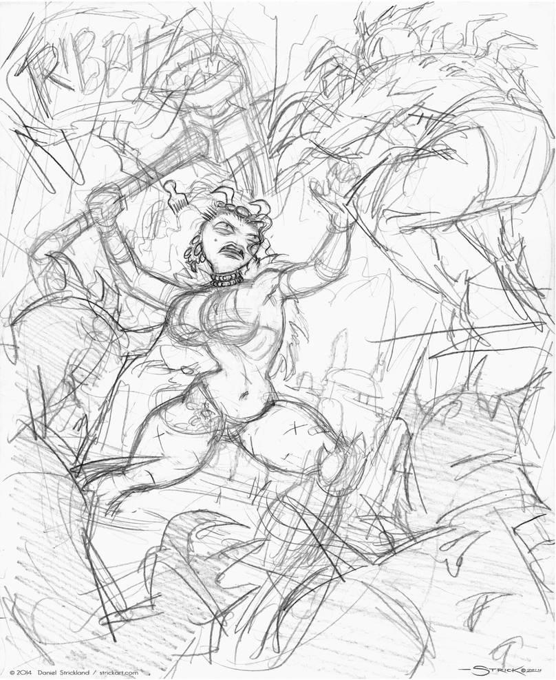 Kroaka rough sketch by strickart