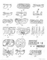 Logo Sketches 1 by strickart