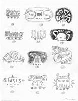 Logo Sketches 3 by strickart