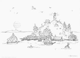 Nobbins Island sketch by strickart