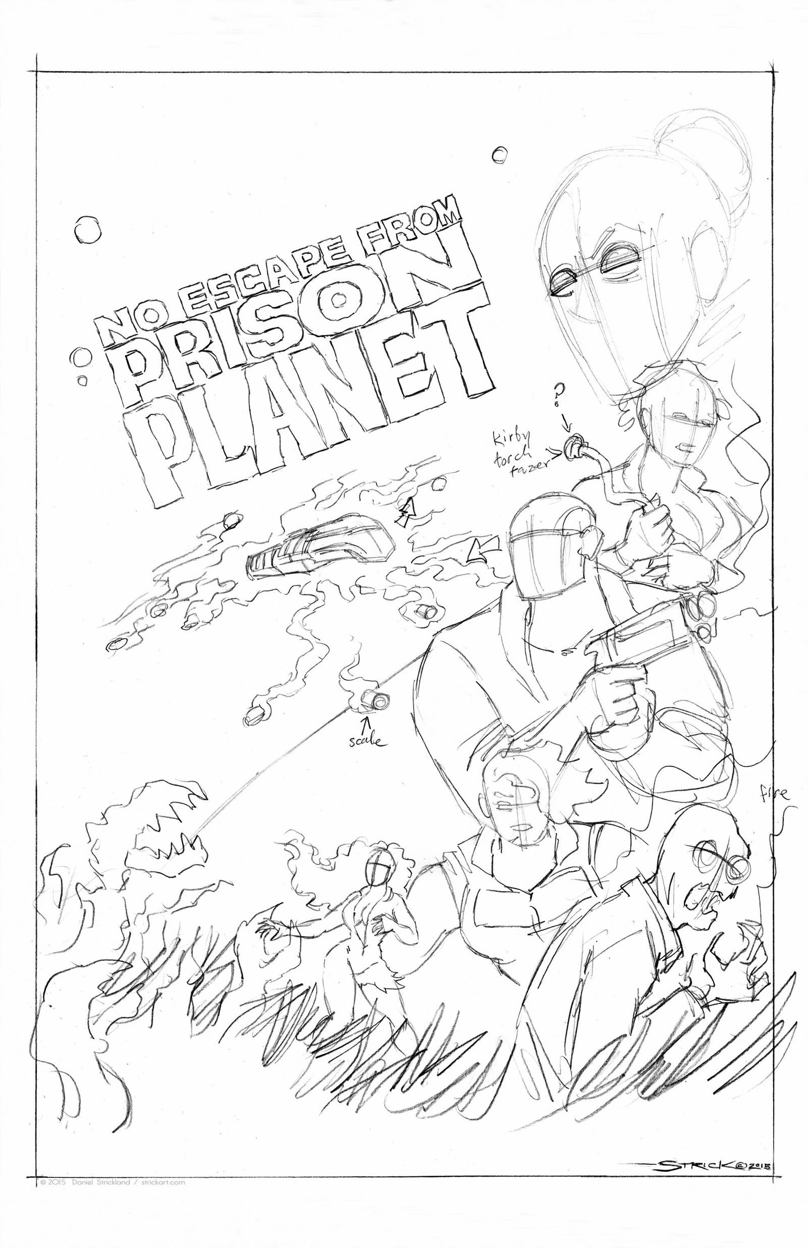 Prison Planet cover WIP 1 by strickart