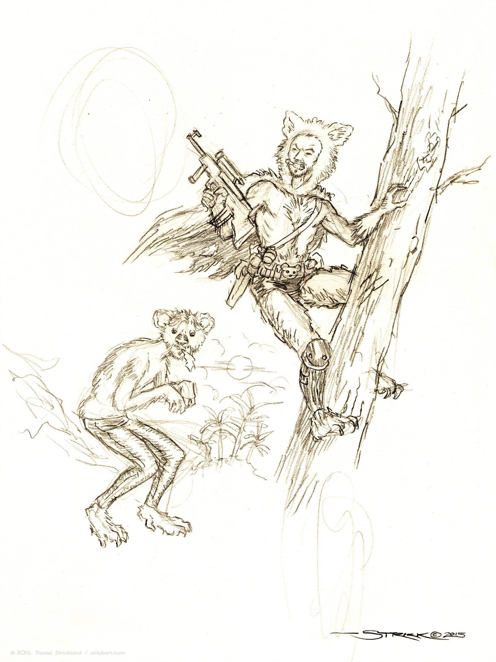 Koalaman and Man-Koala by strickart