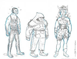 Nobbins Characters sketch by strickart